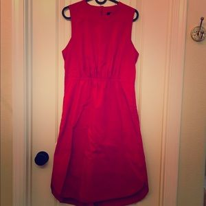 100% Cotton Red Madewell Dress in Size 6
